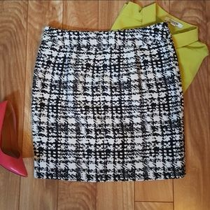 Ann Taylor Black and white pencil skirt sz12 NWOT